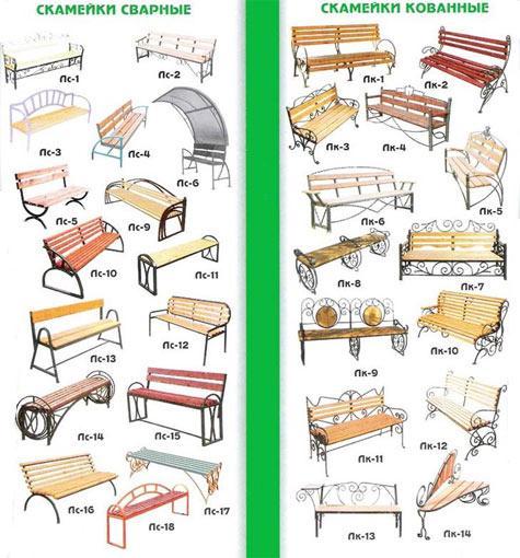 Как сварить скамейку чертеж