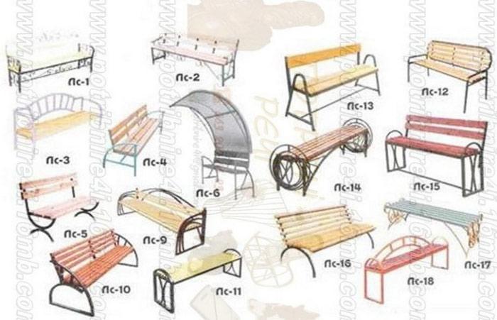 Скамейка своими руками из металла и дерева фото чертежи 9